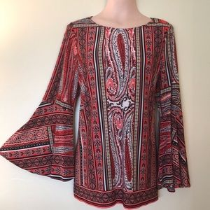 Chico's Bell Sleeve Tunic - Size 2 - 12/M